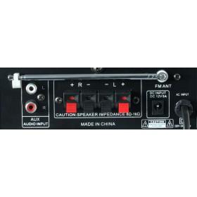 Skytronic AV-360 Versterker met FM radio en USB / SD speler - aansluitingen rca en speaker
