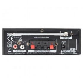 Fenton AV380BT Karaoke versterker, speakers, USB/SD/BT en microfoons achterkant aansluitingen