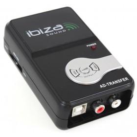 Ibiza Sound AD-TRANSFER - USB Audio Converter (analoog naar digitaal) met digitale vilume regeling