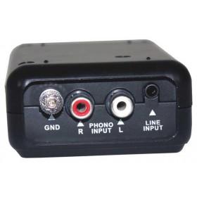 Ibiza Sound AD-TRANSFER - USB Audio Converter (analoog naar digitaal) line of phono ingang