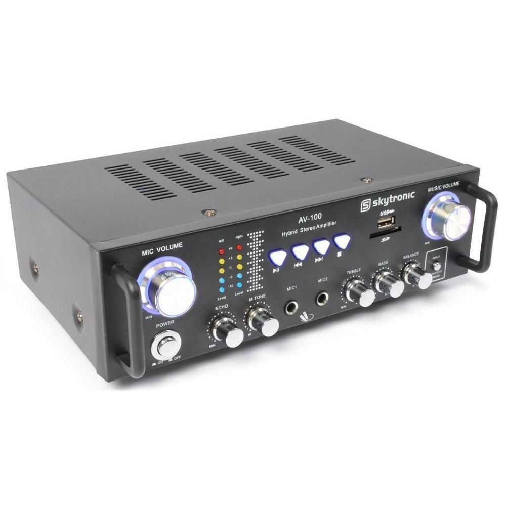Skytronic AV-100 Stereo Karaoke versterker MP3