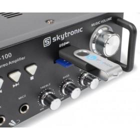 Skytronic AV-100 Stereo Karaoke versterker MP3 usb aansluiting
