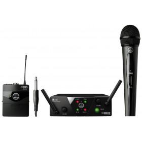 AKG WMS40 Mini2 Mix Set - Dubbele ontvanger met een hand microfoon en een beldpack zender