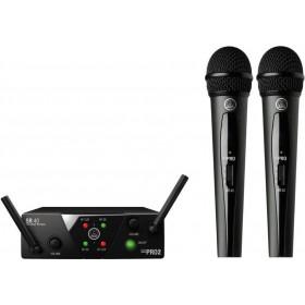 AKG WMS40 Mini Dual Vocal Set - Dubbele Draadloze Hand Microfoon Set