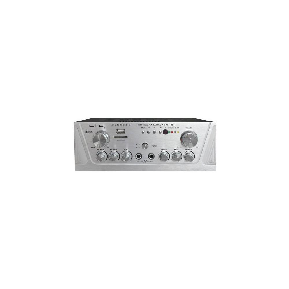 LTC ATM2000USB-BT Karaoke Versterker 2x50W met o.a. mp3 en bluetooth