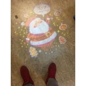 Contest Artist10W Gobo Projector met extra gobos voor elke gelegenheid - kerstman