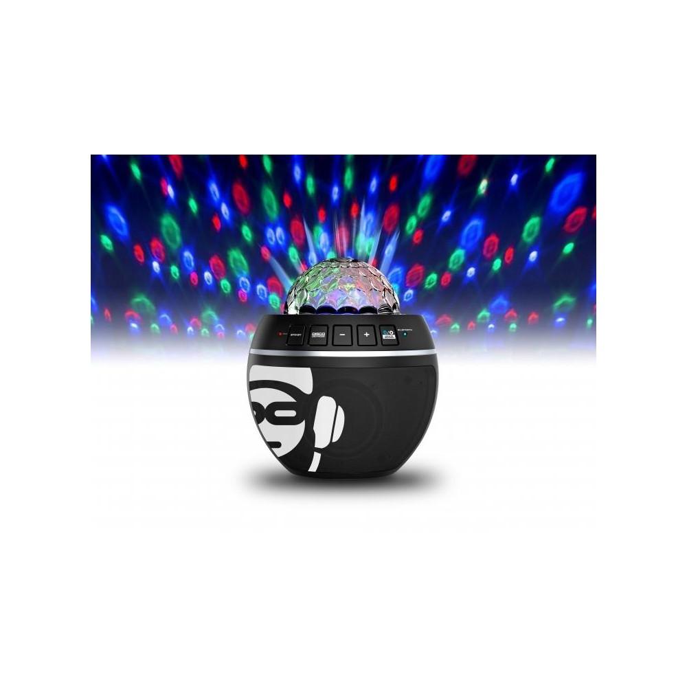 lichteffect iDance BB10-Black - Audio Speakers met disco lamp en Bluetooth