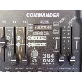display en bediening - Transcension Commander 384 384-kanaals DMX controller