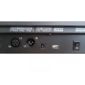DMX aansluitingen op de achterkant - Transcension Commander 384 384-kanaals DMX controller
