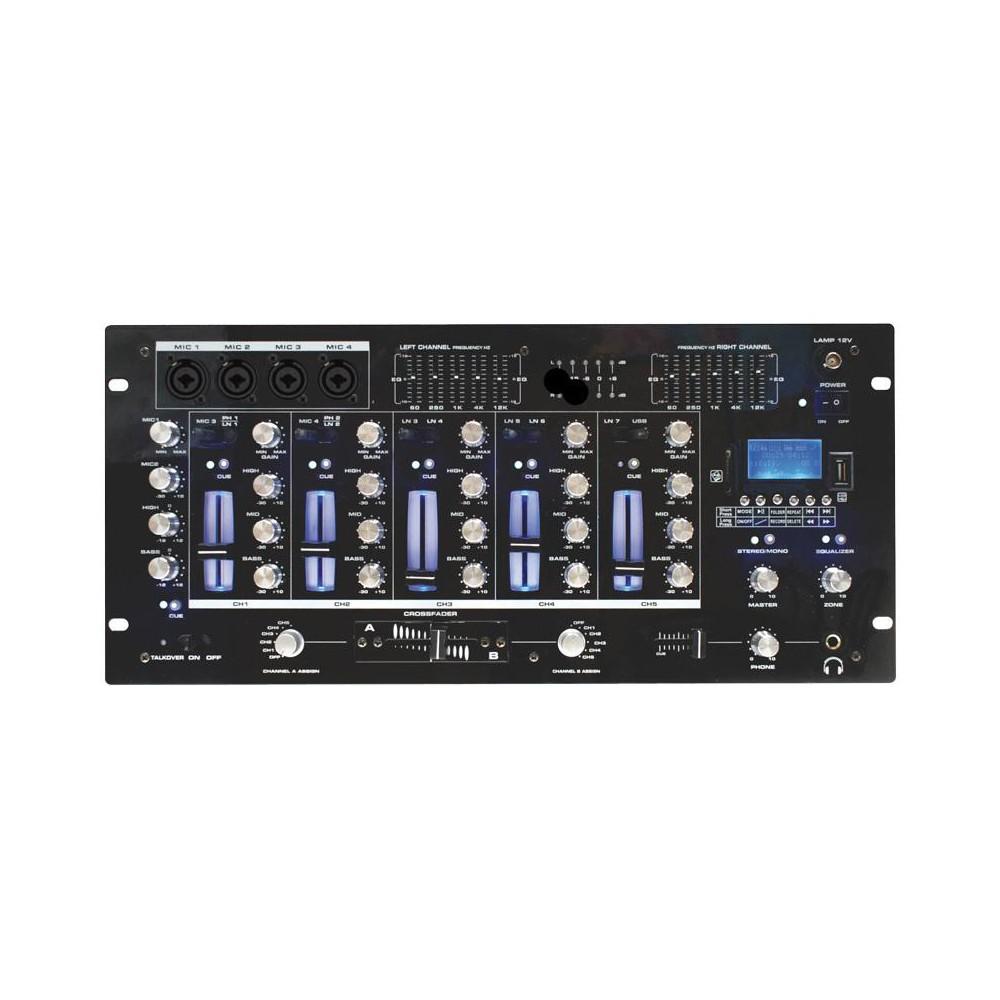 BST ACTIV218 - 6-kanaalen mixer + USB, SD en Bluetooth speler en recorder