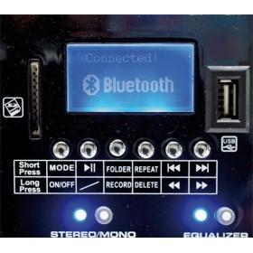 display met usb speler en recorder en bluetooth speler BST ACTIV218 - 6-kanaalen mixer