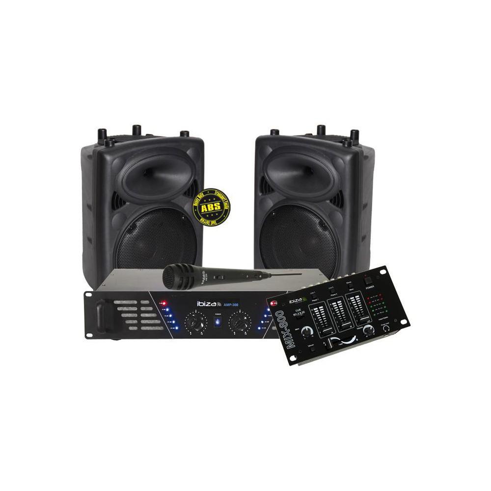 set IBIZA Sound DJ-300MKII Disco Kit Complete Disco Set