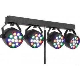Ibiza Light DJLIGHT80LED Standaard met 4x 1W RGBW par cans (Actie) - detail lampen voor