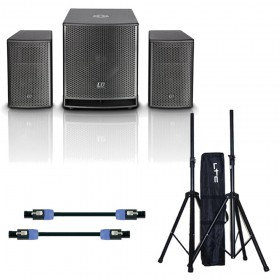 "LD Systems DAVE12 G3 - Compact 12"" Actief PA Set met kabels en statiefen"