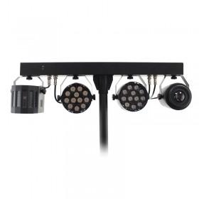 Equinox Microbar Multi Systeem Licht bar met verschillende effecten - detail lichten