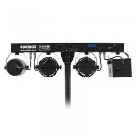 Equinox Microbar Multi Systeem Licht bar met verschillende effecten - achterkant en aansluitingen