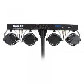 Equinox Microbar COB Systeem COB LED Par Bar - achterkant en aansluitingen