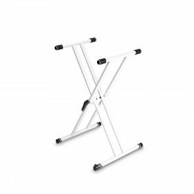 Gravity KSX 2 Keyboard Standaard X-vorm dubbel in het wit