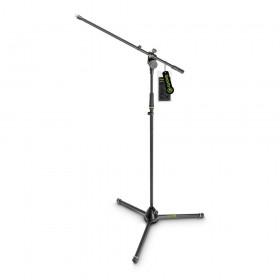 Gravity MS 4321 B - Microfoon standaard met inklapbare driepoot en op 2 punten verstelbare arm
