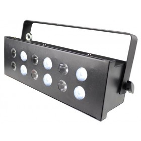 Ibiza Light STROBE12.3LED MATRIXIELE 5/6-KANAAL DMX LED STROBOSCOOP - matrix