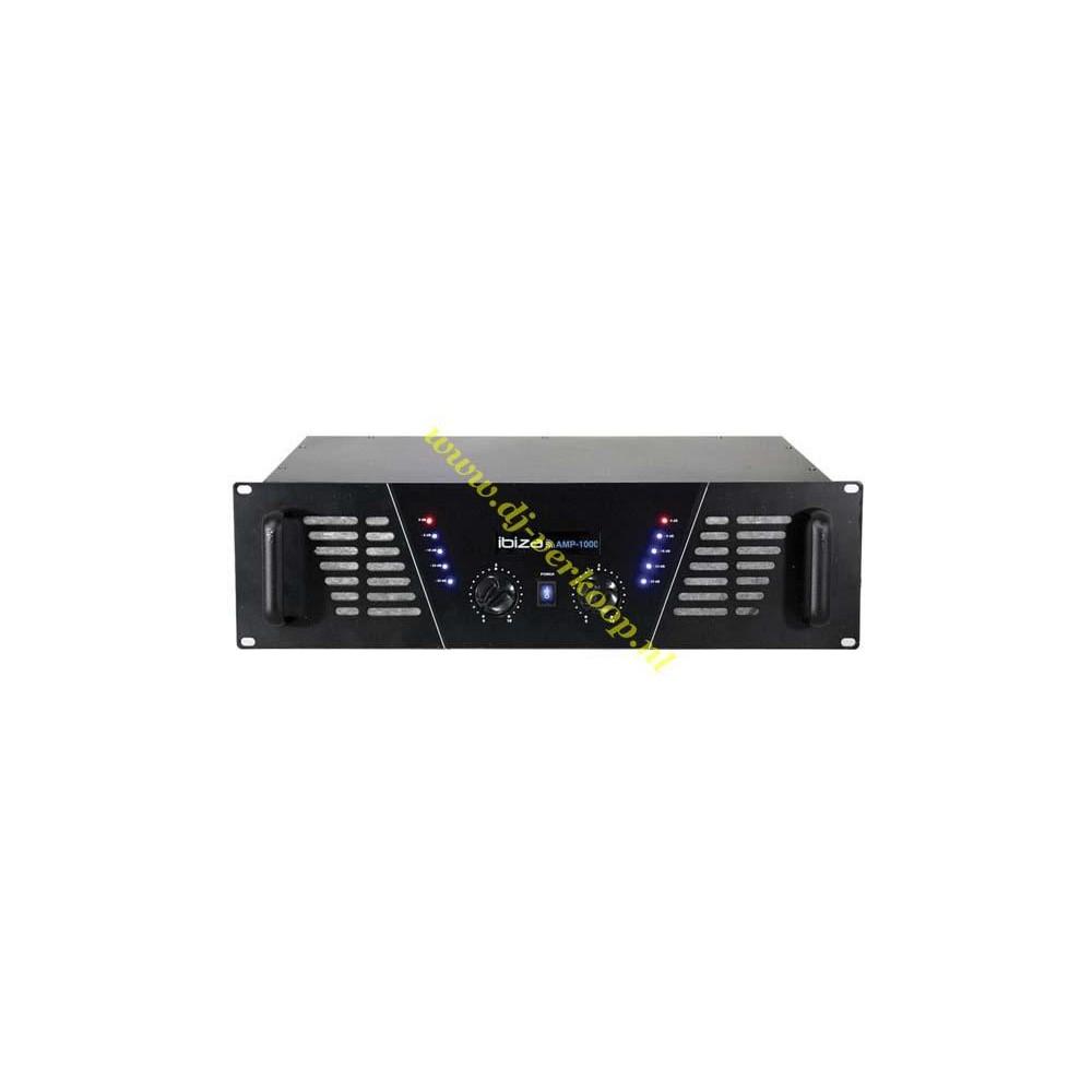 IBIZA Sound AMP1000 - 2x800W max. Versterker zwart voorkant