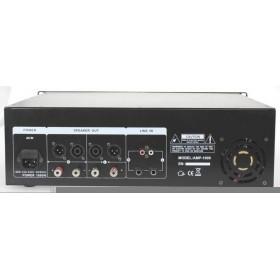 IBIZA Sound AMP300 - Semi-pro versterker 2x240W Max. op 4 ohm achterkant aansluitingen.