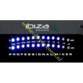 IBIZA Sound - DJM102 6-kanaals Mixer met EQ. en Effecten vu meters