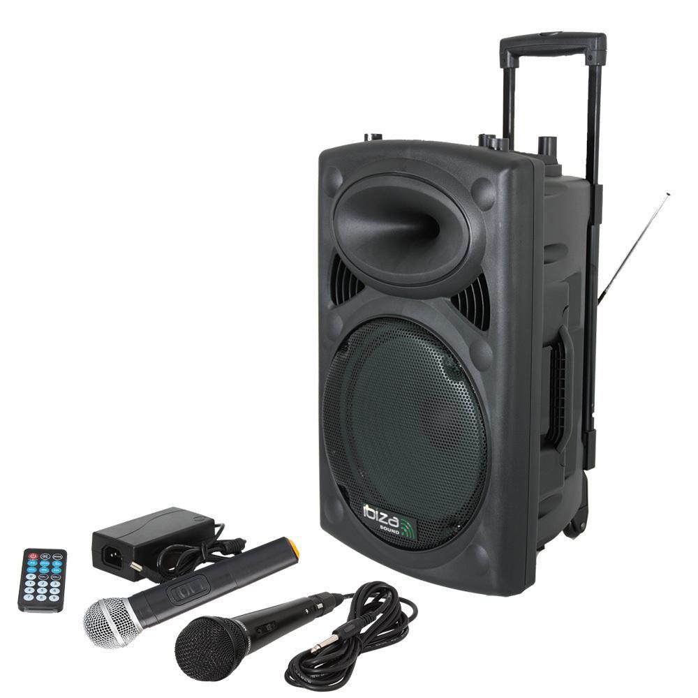 Ibiza Sound PORT10VHF-BT - Mobiel Pa systeem met Bluetooth en USB Speler + hoes (Actie)