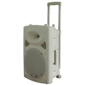 Voorkant Ibiza Sound PORT10VHF-BT-WH - Mobiel Pa systeem met Bluetooth en USB Speler