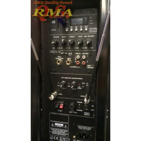 """IBIZA Sound PORT12VHF-BT 12"""" Mobiel Pa systeem met USB en Bluetooth + hoes aansluitingen totaal"""