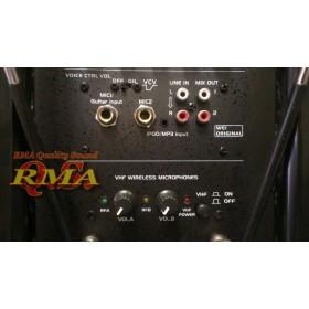 """IBIZA Sound PORT12VHF-BT 12"""" Mobiel Pa systeem met USB en Bluetooth + hoes aansluitingen line in en uit + microfoons"""