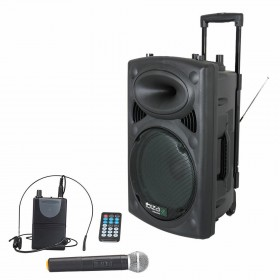 "IBIZA Sound PORT15VHF-BT - 15"" Mobiel Pa systeem met Bluetooth en USB mp3 + gratis hoes pakket"