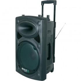 "voorkant speaker - IBIZA Sound PORT15VHF-BT 15"" Mobiel Pa systeem"