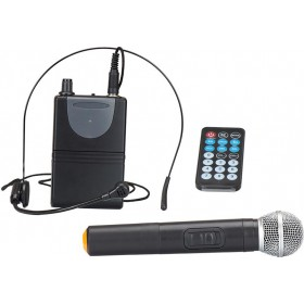 "IBIZA Sound PORT15VHF-BT - 15"" Mobiel Pa systeem met Bluetooth en USB mp3 + gratis hoes microfoons"