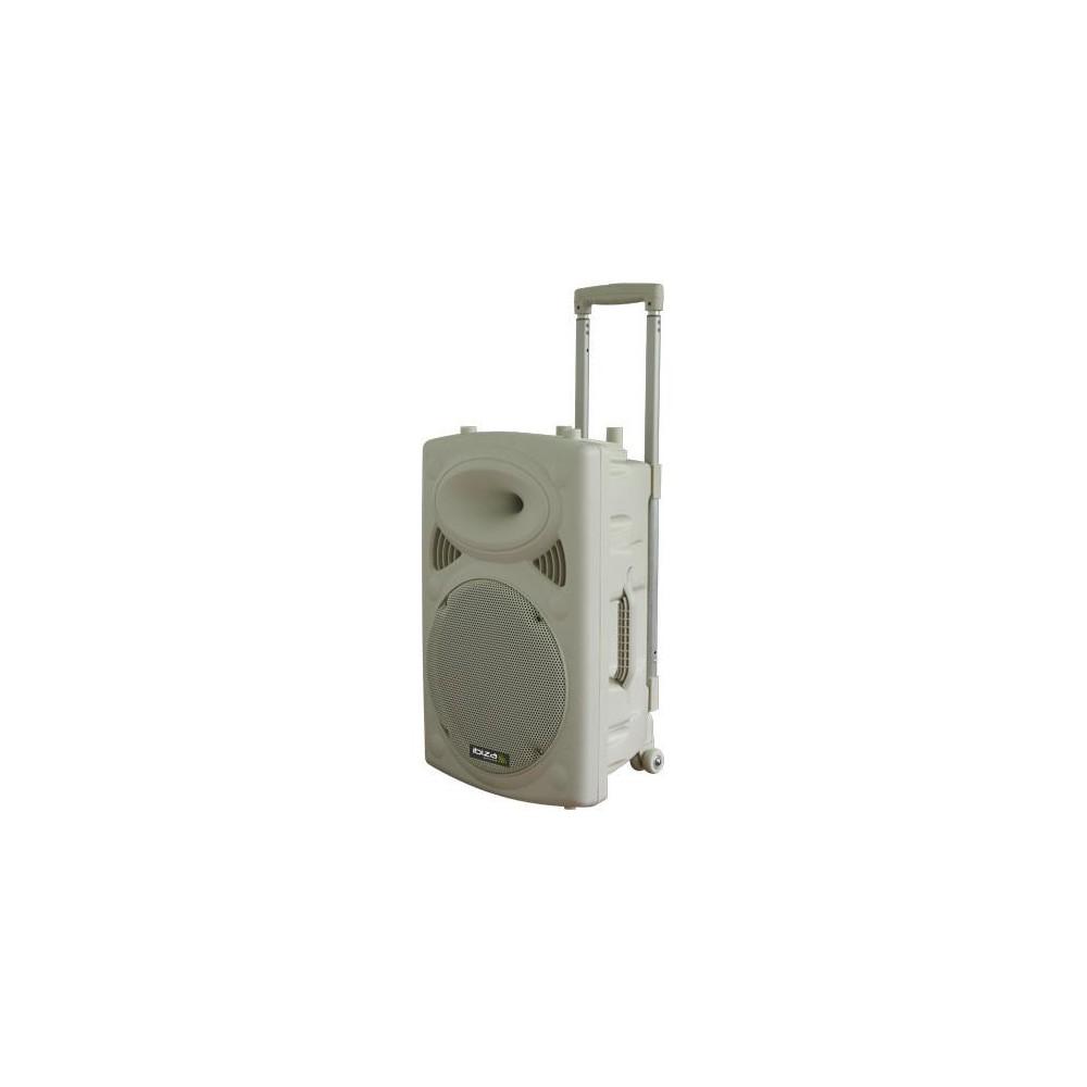 "IBIZA Sound PORT15VHF-BT-WH - 15"" Mobiel Pa systeem met Bluetooth en USB Speler wit"