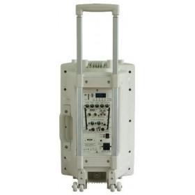 "IBIZA Sound PORT15VHF-BT-WH 15"" Mobiel Pa systeem met Bluetooth en USB Speler - achterkant trolley"
