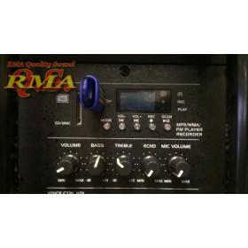 "IBIZA Sound PORT15VHF-BT-WH 15"" Mobiel Pa systeem met Bluetooth en USB Speler - usb mp3 speler en bluetooth met display"