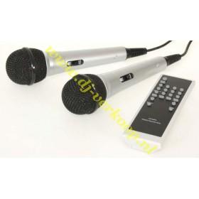 microfoons Ibiza Sound Port8Mini - Mobiele PA met cd/usb/mp3 speler