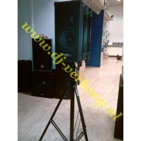 op standaard Ibiza Sound Port8Mini - Mobiele PA met cd/usb/mp3 speler