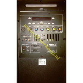 achterkant Ibiza Sound Port8Mini - Mobiele PA met cd/usb/mp3 speler