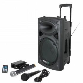 Ibiza Sound PORT8VHF-BT - Mobiel Pa systeem met Bluetooth en USB Speler + hoes