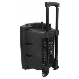 achterkant Ibiza Sound PORT8VHF-BT - Mobiel Pa systeem met Bluetooth en USB Speler + hoes