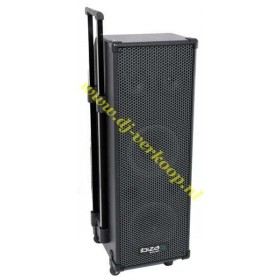IBIZA Sound PORT9DVD-VHF mobiele muziek installatie met o.a. dvd en TV Scherm voorkant