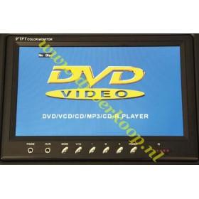 IBIZA Sound PORT9DVD-VHF mobiele muziek installatie met o.a. dvd en TV Scherm - tft scherm