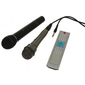 IBIZA Sound PORT9DVD-VHF mobiele muziek installatie met o.a. dvd en TV Scherm microfoons en afstandsbediening