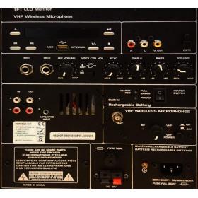 IBIZA Sound PORT9DVD-VHF mobiele muziek installatie met o.a. dvd en TV Scherm aansluitpaneel