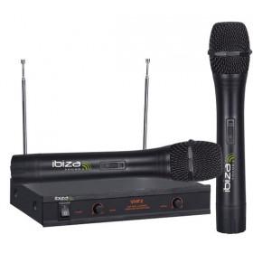 IBIZA Sound VHF2 Dubbele Draadloze VHF Handmicrofoon set