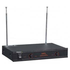 Ontvanger IBIZA Sound VHF2 Dubbele Draadloze VHF Handmicrofoon set