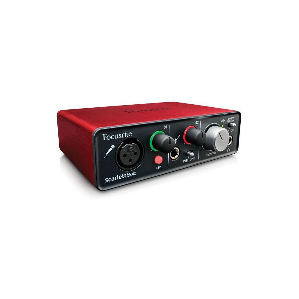 Focusrite Scarlett Solo - Compacte 24-bit/96 kHz USB-geluidskaart