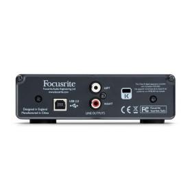 Focusrite Scarlett Solo - Compacte 24-bit/96 kHz USB-geluidskaart - achterkant aansluitingen